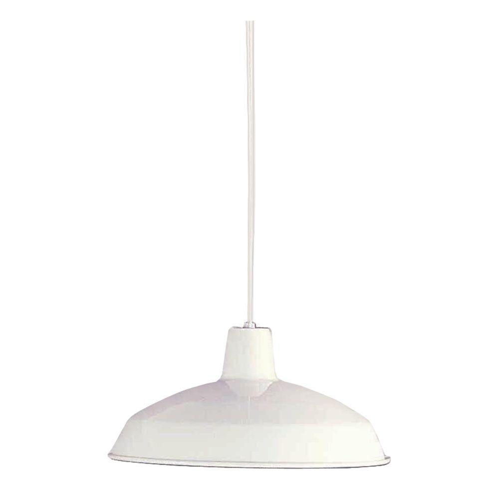 Filament Design Lenor 1-Light White Incandescent Ceiling Pendant