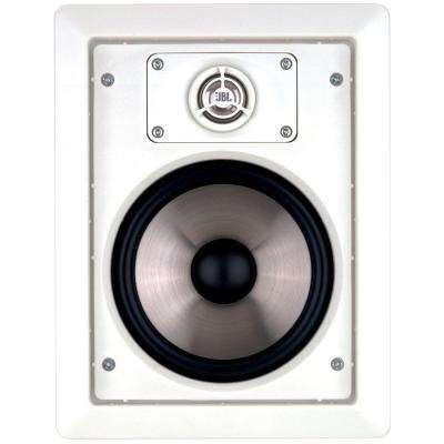 8 in. 100-Watt Two-Way In-Wall Speaker, White