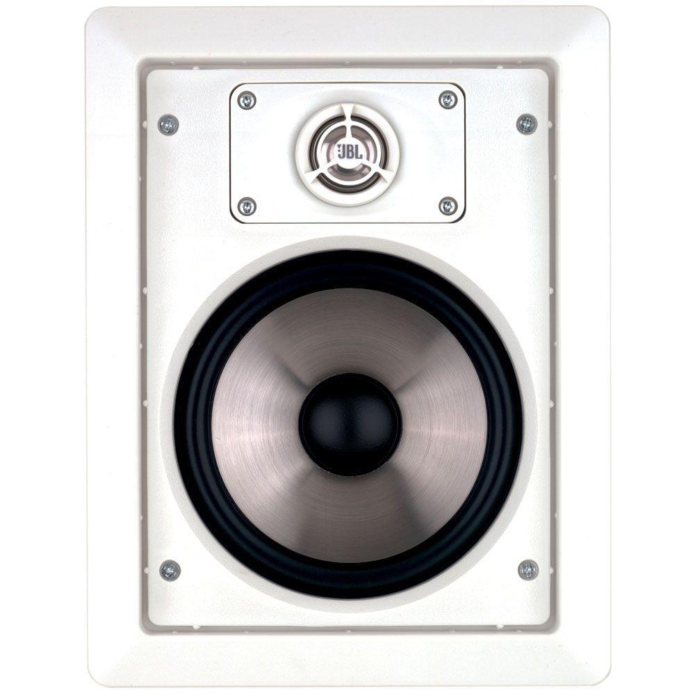 8 in. 100-Watt Two-Way In-Wall Speaker, White