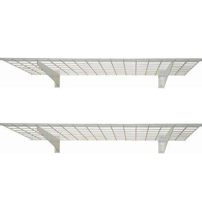 2-Shelf 45 in. W Wire Garage Wall Storage System in White