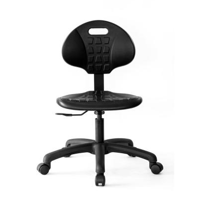 Black Polyurethane Chair 5 in. of Seat Height Adjustment (16-21 in. seat height). Ergonomic and Easy to Clean