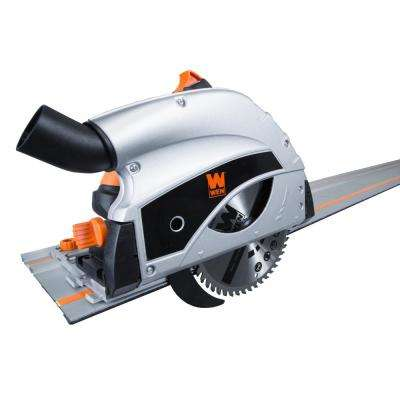 9 Amp Plunge Cut Circular Track Saw with Two 27.5 in. Tracks
