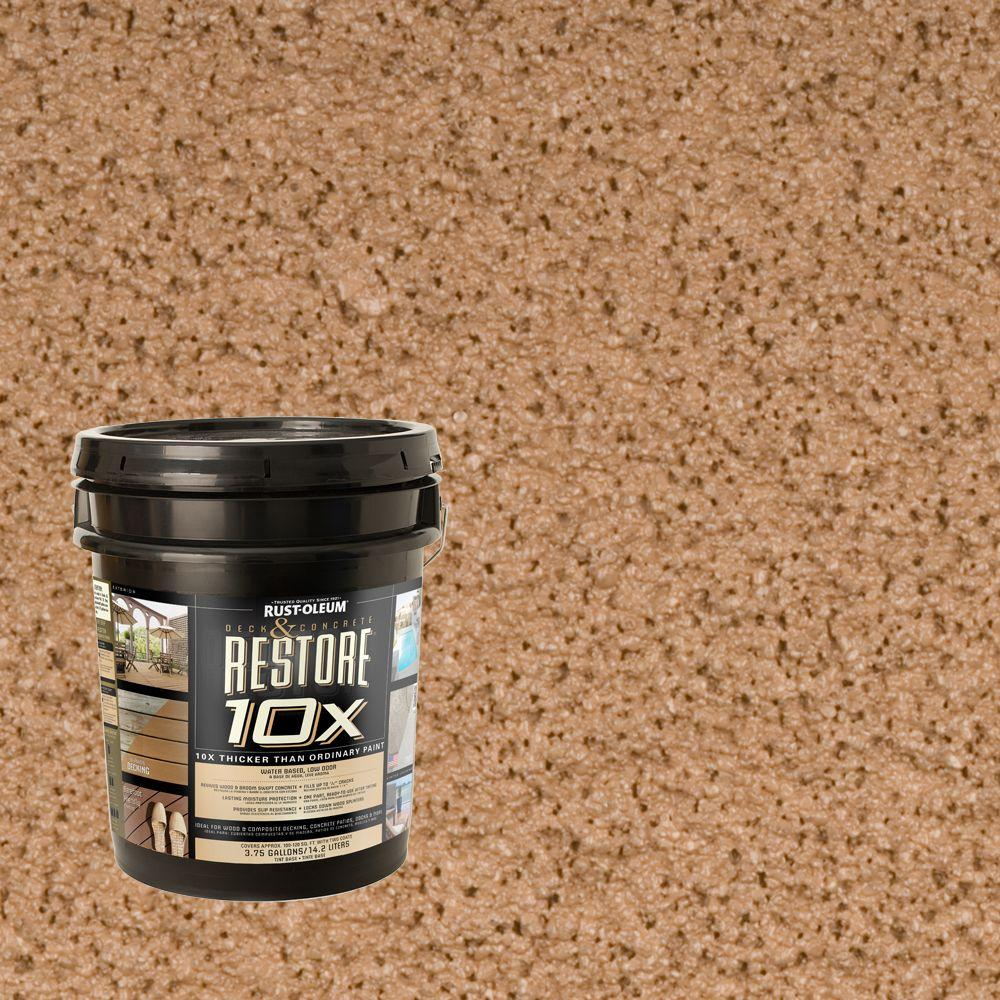 Rust-Oleum Restore 4-gal. Adobe Deck and Concrete 10X Resurfacer
