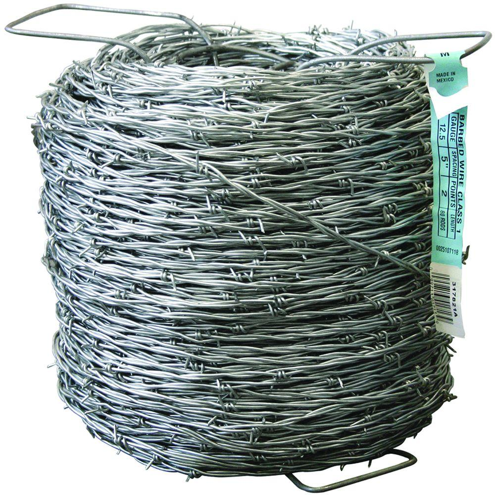 FARMGARD 1320 ft. 12-1/2 Gauge 2-Point Class I Barbed Wire-317821A ...