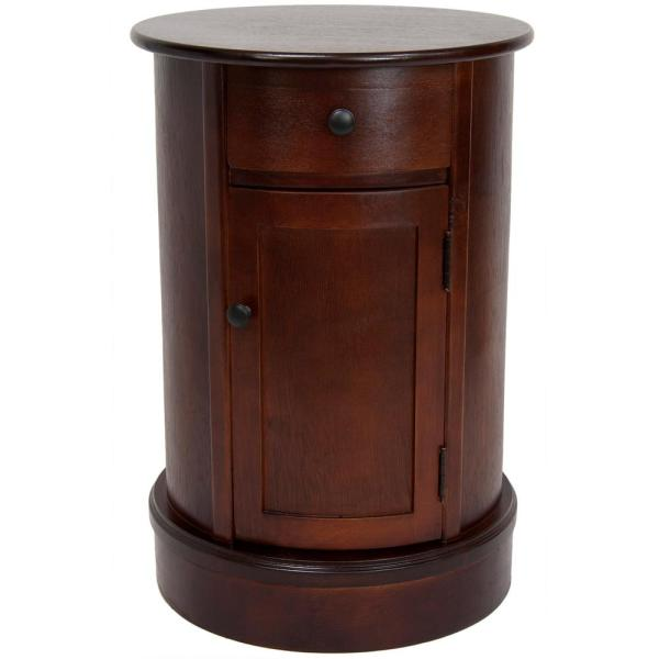 Classic Oval Brown Side Table