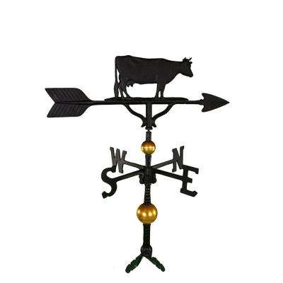 32 in. Deluxe Black Cow Weathervane