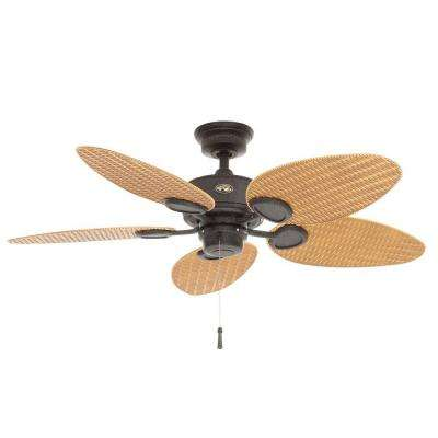 Palm Beach 48 in. Indoor/Outdoor Gilded Iron Ceiling Fan