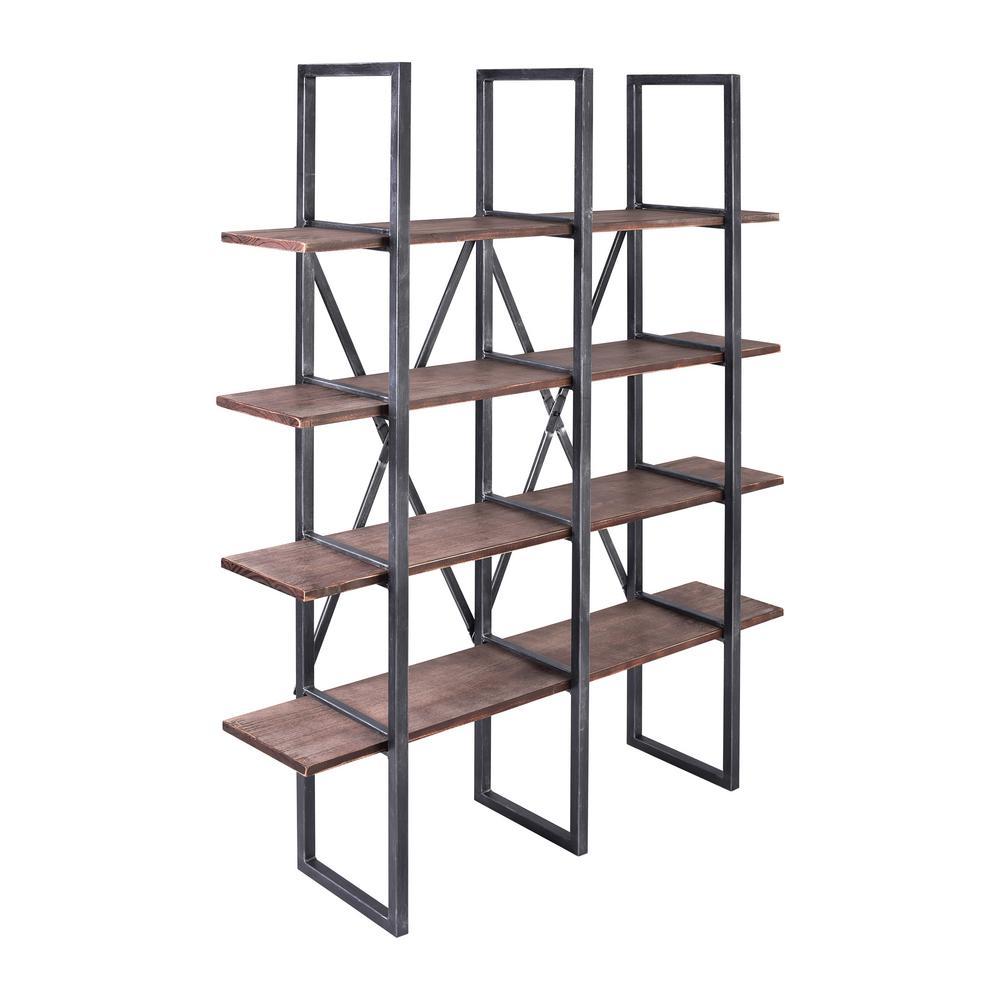 Lauder Rustic Pine Wood Bookshelf