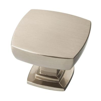 Webber 1-3/8 in. (35mm) Satin Nickel Square Cabinet Knob