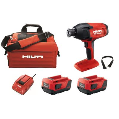 22-Volt SID 8 Lithium-Ion Cordless 7/16 in. Hex Impact Driver Kit with Two 4.0 Ah Batteries, Charger and Strap