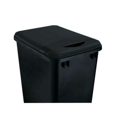 1.75 in. H x 10.35 in. W x 14.12 in. D 35 Qt. Black Waste Container Lid