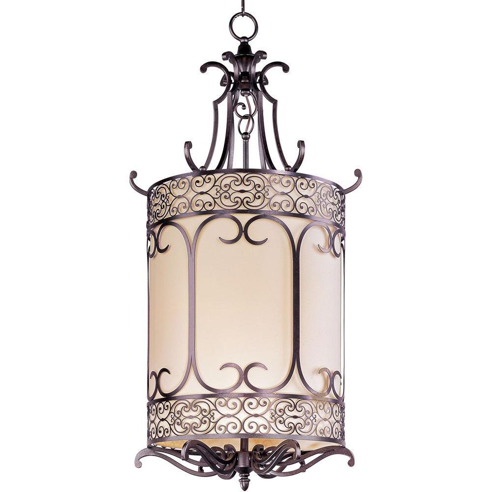 Maxim Lighting Mondrian 6-Light Umber Bronze Pendant