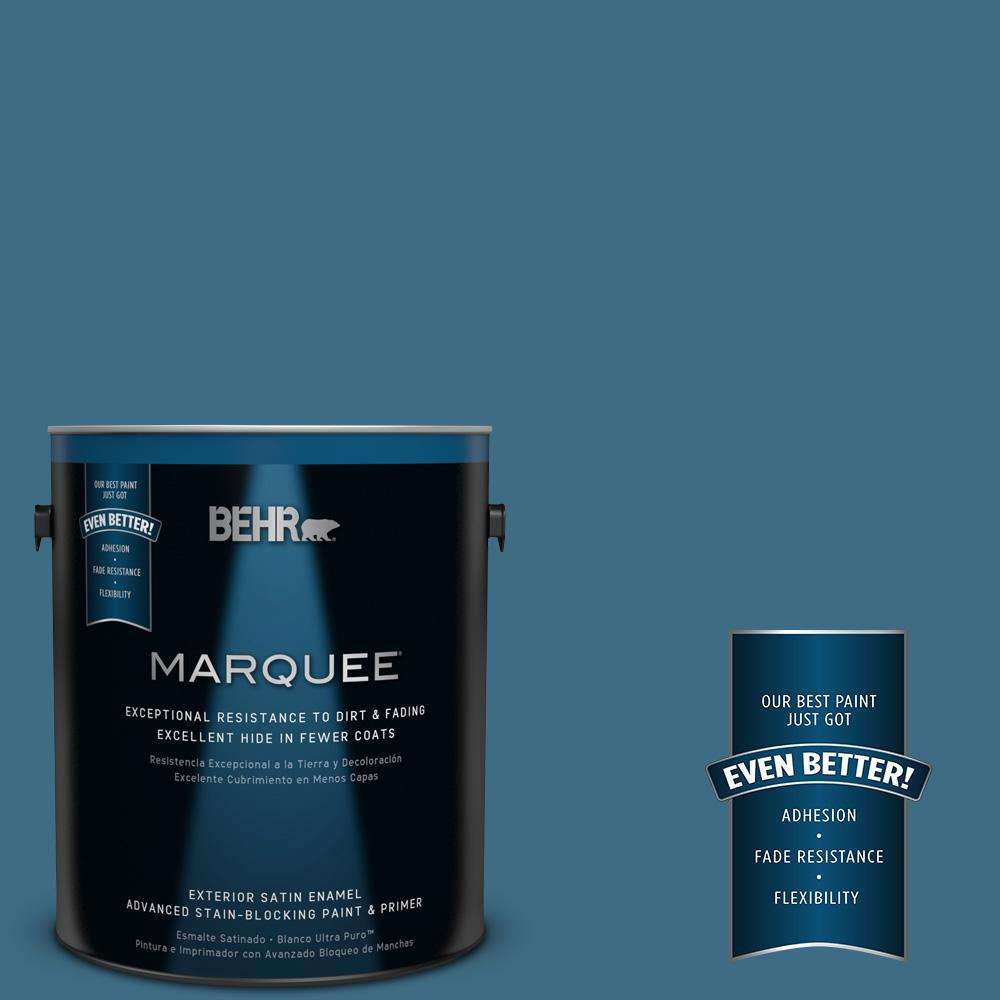BEHR MARQUEE 1-gal. #560D-6 Seven Seas Satin Enamel Exterior Paint