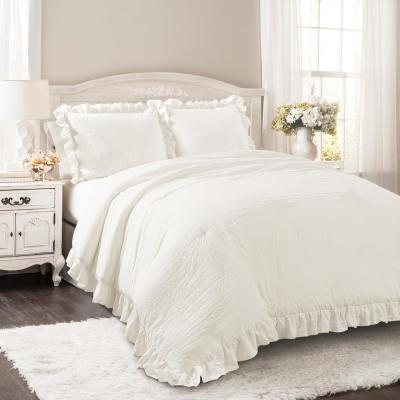 Reyna Comforter White 3-Piece Full/Queen Set