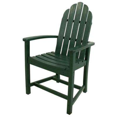 Classic Green Adirondack All Weather Plastic Outdoor ...