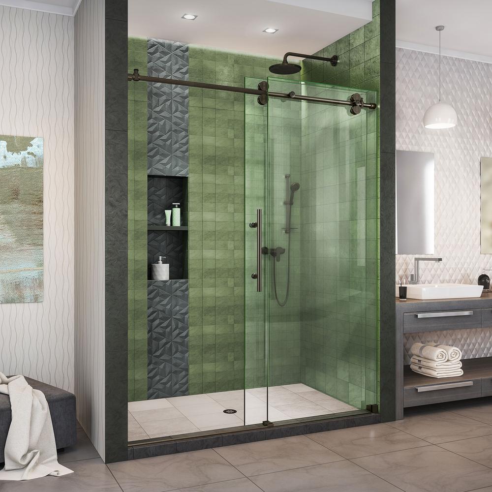 Dreamline Enigma Xo 56 60 In W X 76, Bathroom Shower Doors Home Depot