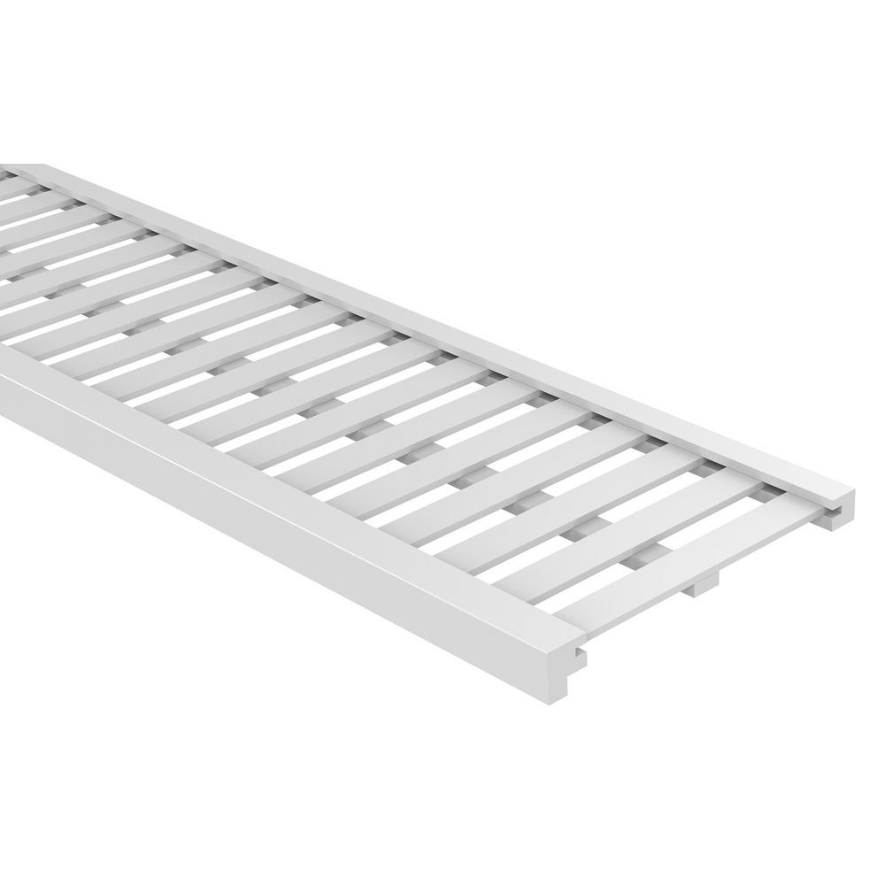 Charmant White Ventilated Wood Shelf