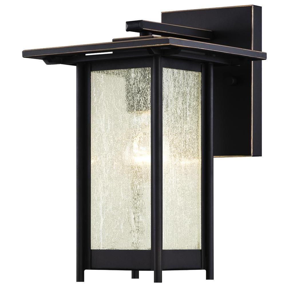 Westinghouse clarissa oil rubbed bronze with highlights outdoor wall lantern 6203900 the home - Westinghouse and living ...
