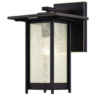 Clarissa Oil-Rubbed Bronze with Highlights Outdoor Wall Lantern