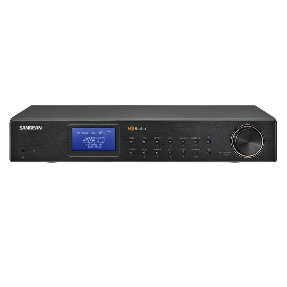 Sangean FM/AM HD Tuner Stereo Radio, Black