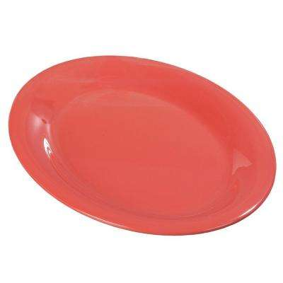 9 in. x 12 in. Melamine Oval Platter in Sunset Orange (Case of 12)