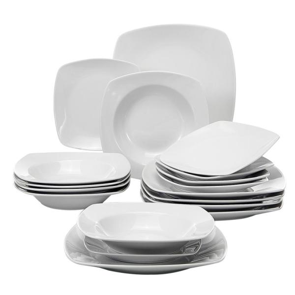 Bowls Set 56-Piece dinnerware Set from Ivory White Porcelain dinnerware from Soup Plates White dinnerware Ceramic Bowls Porcelain Bowl