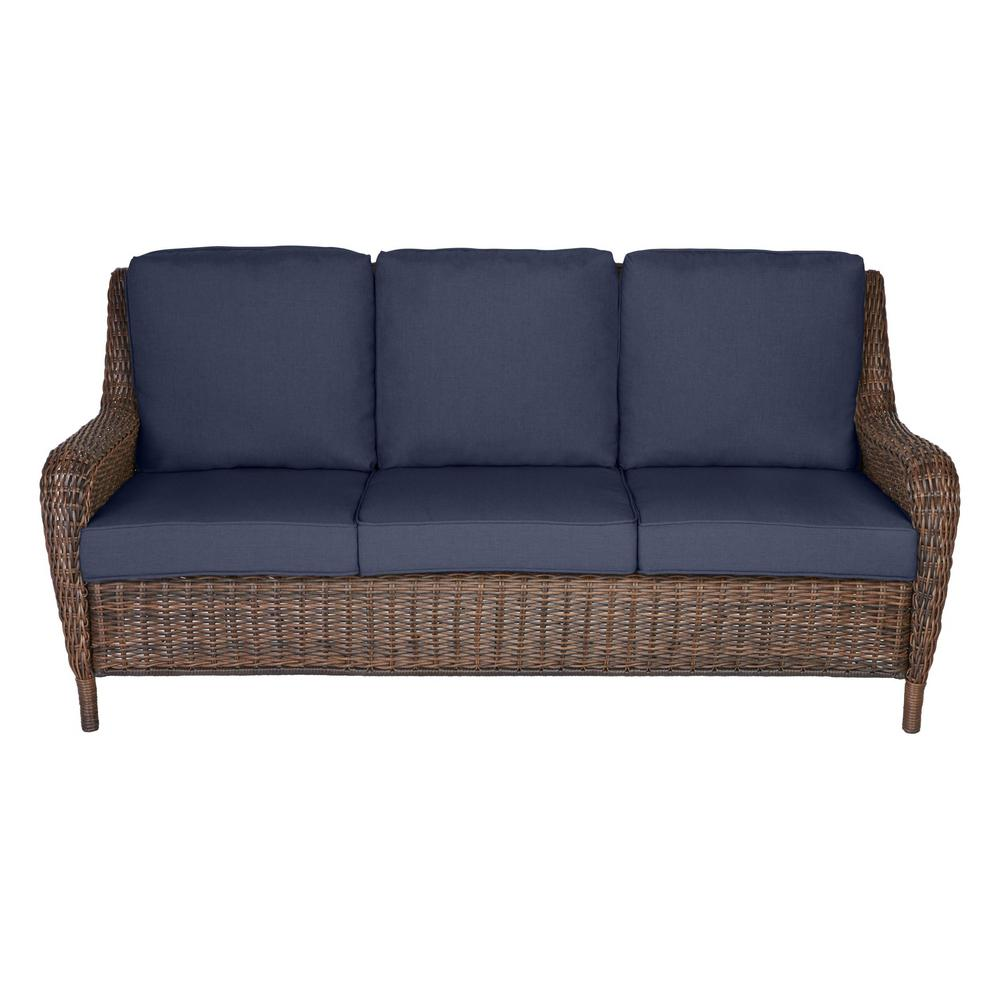 Hampton Bay Cambridge Brown Wicker Outdoor Patio Sofa with Standard on home depot furniture store, home depot all weather wicker furniture, home depot front porch furniture, home depot furniture sets, home depot office furniture, home depot replacement windows, home depot temo sunrooms, home depot backyard furniture, home depot bathroom furniture, home depot garden furniture, home depot bath furniture, home depot bedroom furniture, home depot screen porches, at home depot wicker furniture, home depot kitchen furniture, home depot unfinished furniture, home depot solariums, rattan furniture, home depot furniture outlet, home depot deck furniture,