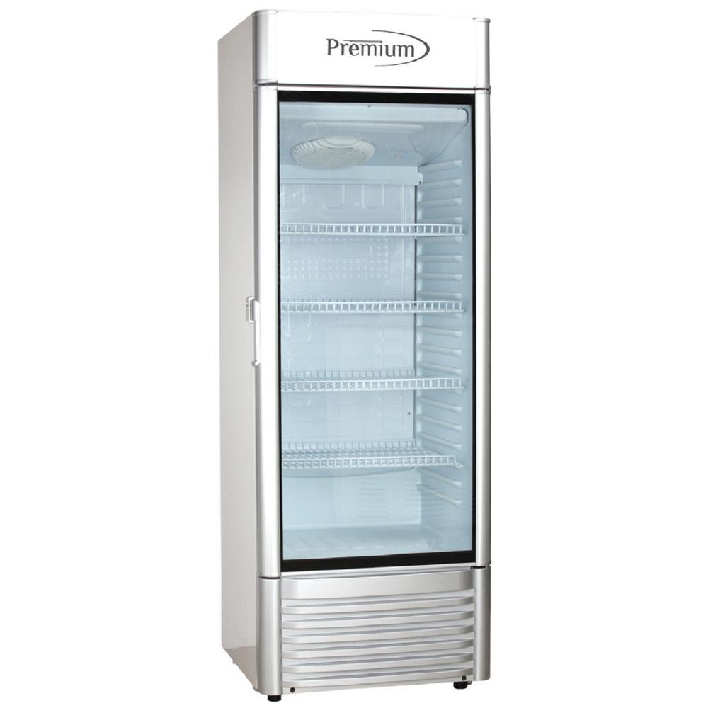 15 cu. ft. Single Door Commercial Refrigerator Beverage cooler in Gray