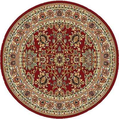 Royalty Red 3 Ft X Round Indoor Area Rug