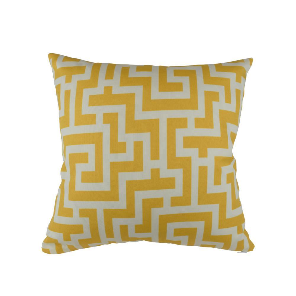 Vesper Lane Yellow Geometric Outdoor Pillow Ge01ywz20i The Home Depot