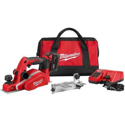 M18 18-Volt Lithium-Ion Cordless 3-1/4 in. Planer Kit with (1) 3.0Ah Batteries, Charger, Tool Bag