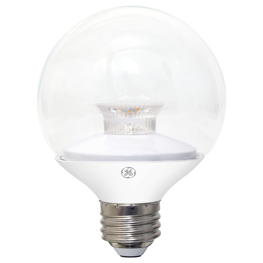 ge 40w equivalent soft white 2700k high definition g25 globe clear dimmable led light bulb 2. Black Bedroom Furniture Sets. Home Design Ideas