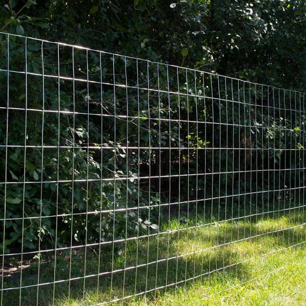 x 50 ft. Everbilt Welded Wire Fence Durable Galvanized Steel Yard Garden 5 ft