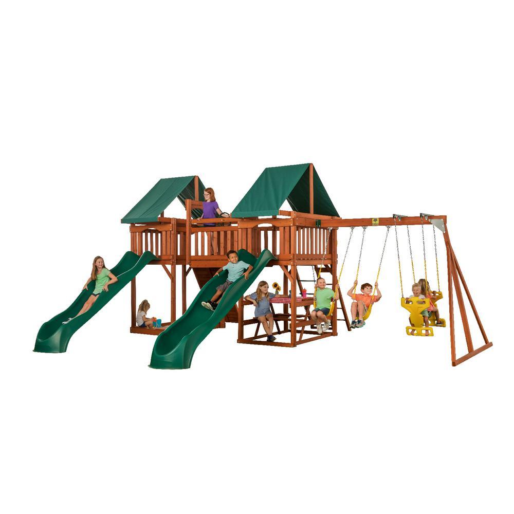 Creative Cedar Designs Sequoia Wooden Complete Swing Set