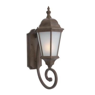 Brielle Collection 2-Light Brown Outdoor Wall Lantern Sconce