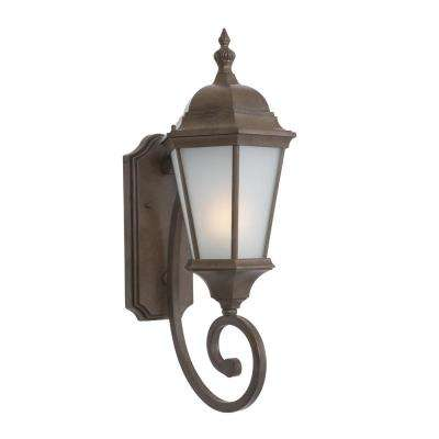 Brielle Collection 2-Light Brown Outdoor Wall-Mount Lamp