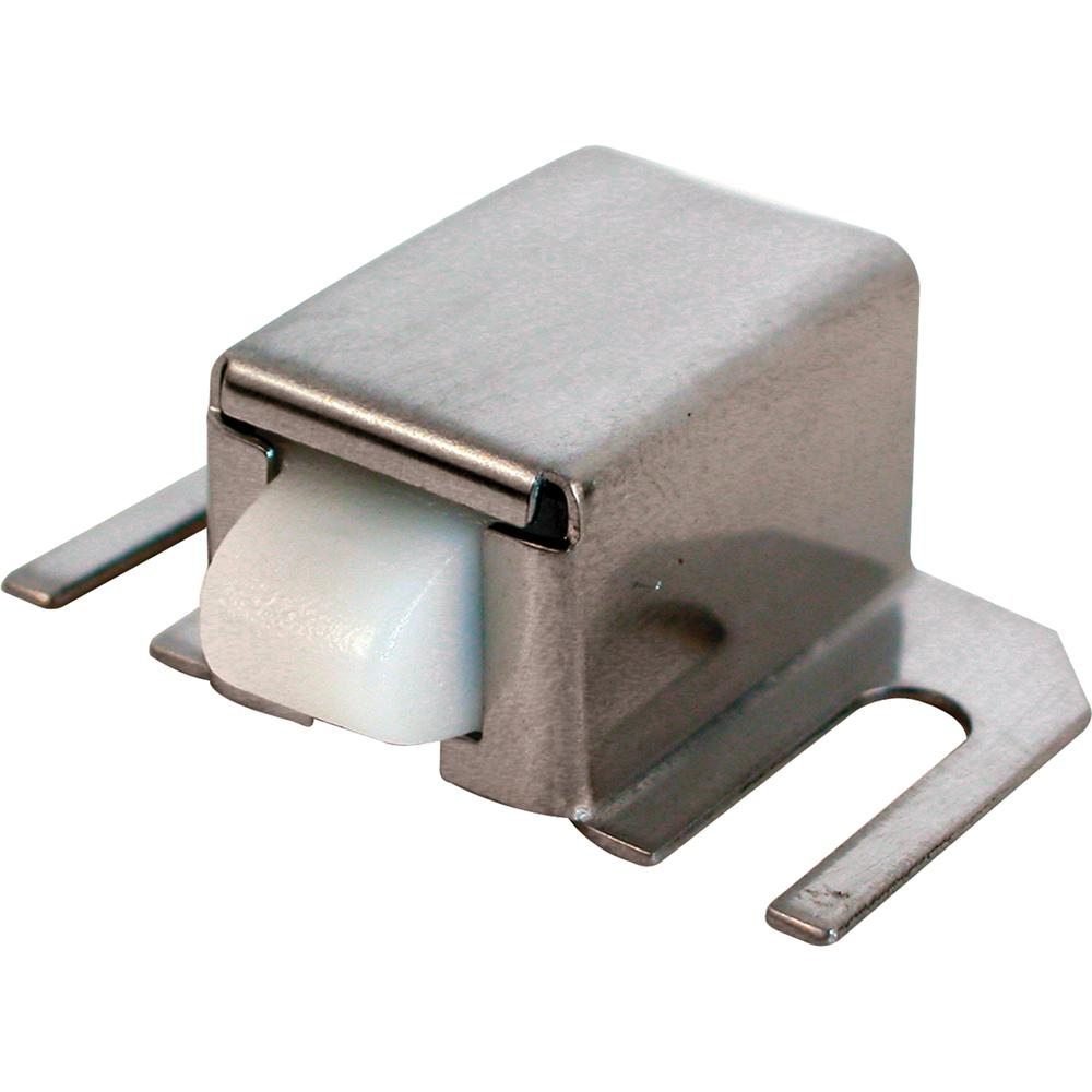 Prime-Line Stainless-Steel Shower Door Catch With Spring-Loaded Nylon Tip