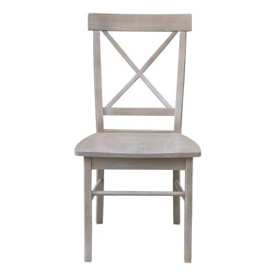 Alexa Weathered Taupe Gray Dining Chair (Set of 2)