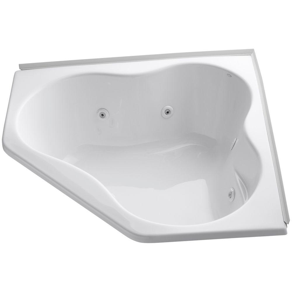 4.5 ft. Drop-in Whirlpool Tub in White with Heater