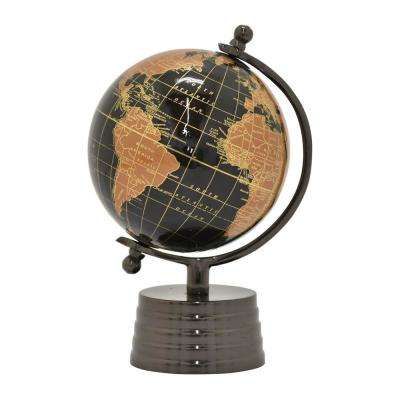 11 in. Metal Globe 6 in. - Nickel Base in Black