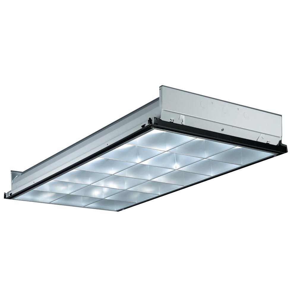 Lithonia Lighting 2 ft. x 4 ft. 3-Light Fluorescent Instant Start ...
