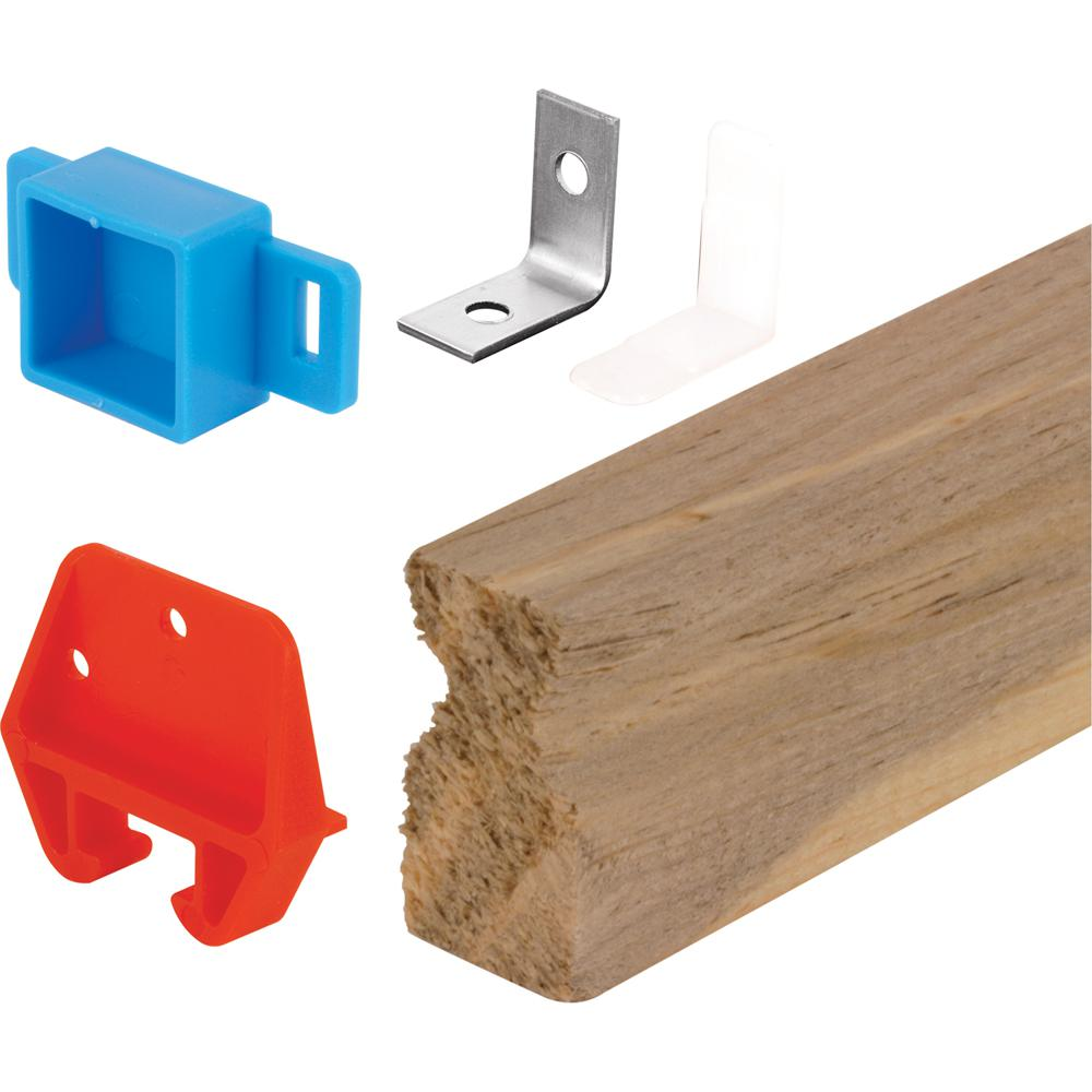Universal Galvanized steel Rolled-Edge Drawer Track Kit Prime-Line 22-1//2 in