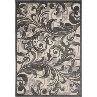 Graphic Illusions Multicolor 2 ft. x 4 ft. Floral Contemporary Area Rug