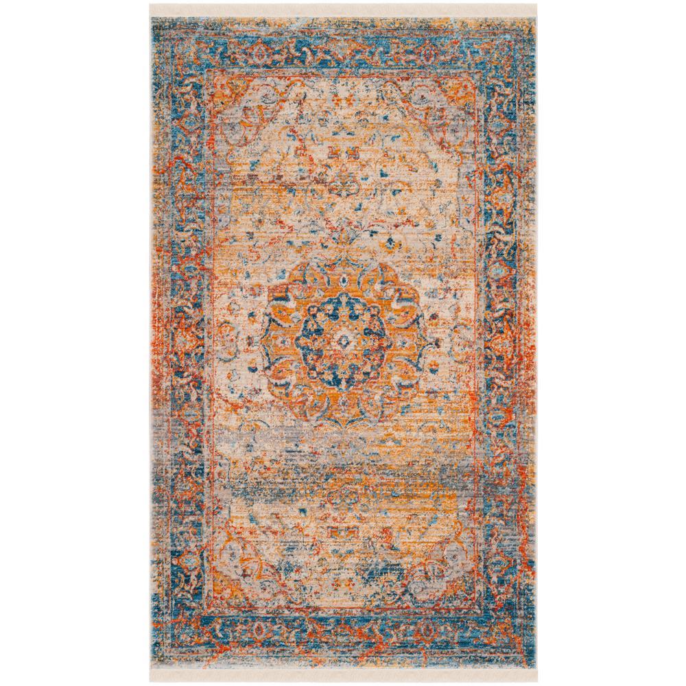 Vintage Persian Blue/Multi 6 ft. x 9 ft. Area Rug