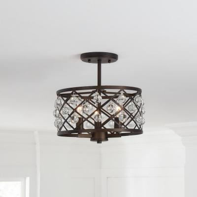 Farmhouse Flush Mount Lights Lighting The Home Depot