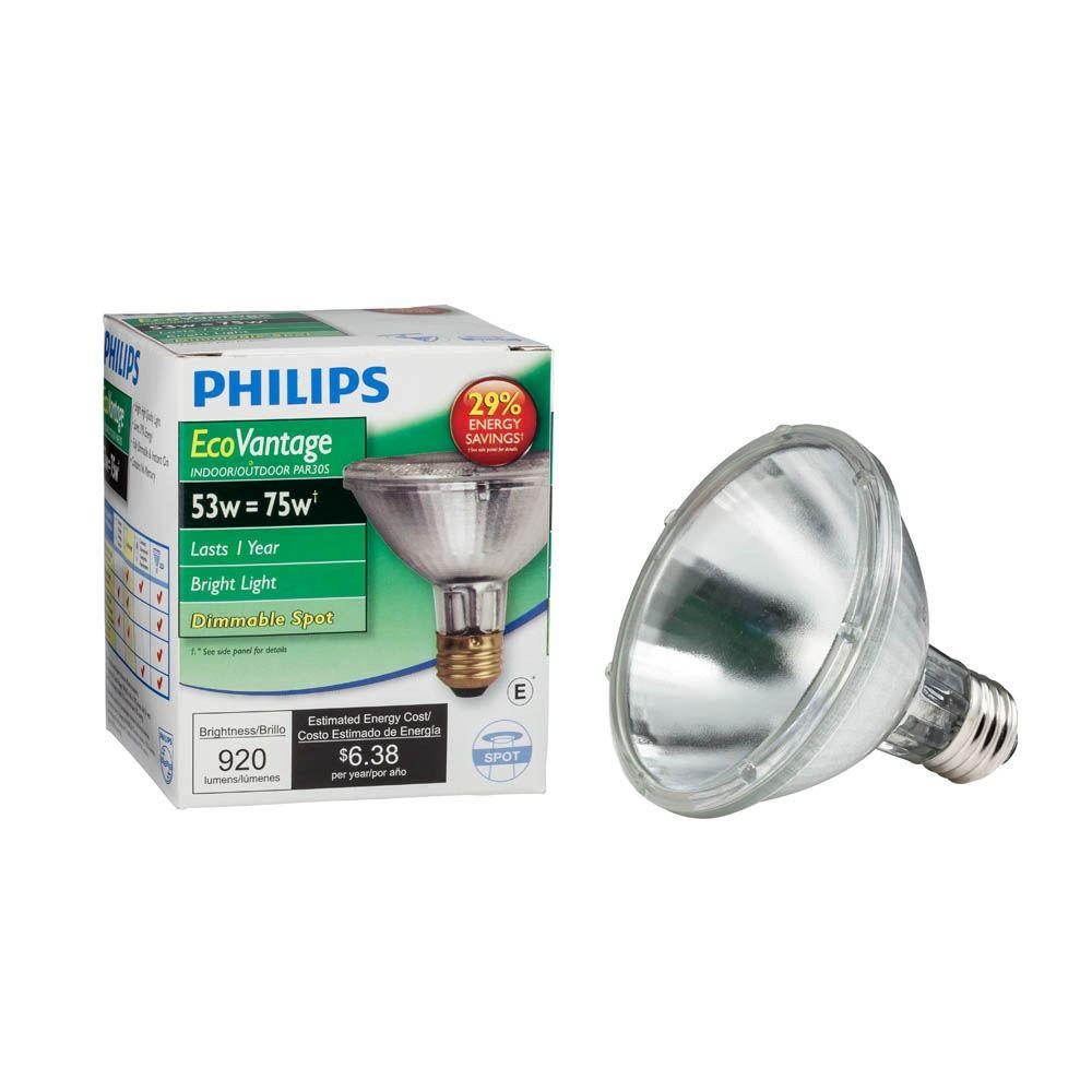 Philips 75 Watt Equivalent Halogen Par30s Dimmable Spotlight Bulb 421123 The Home Depot