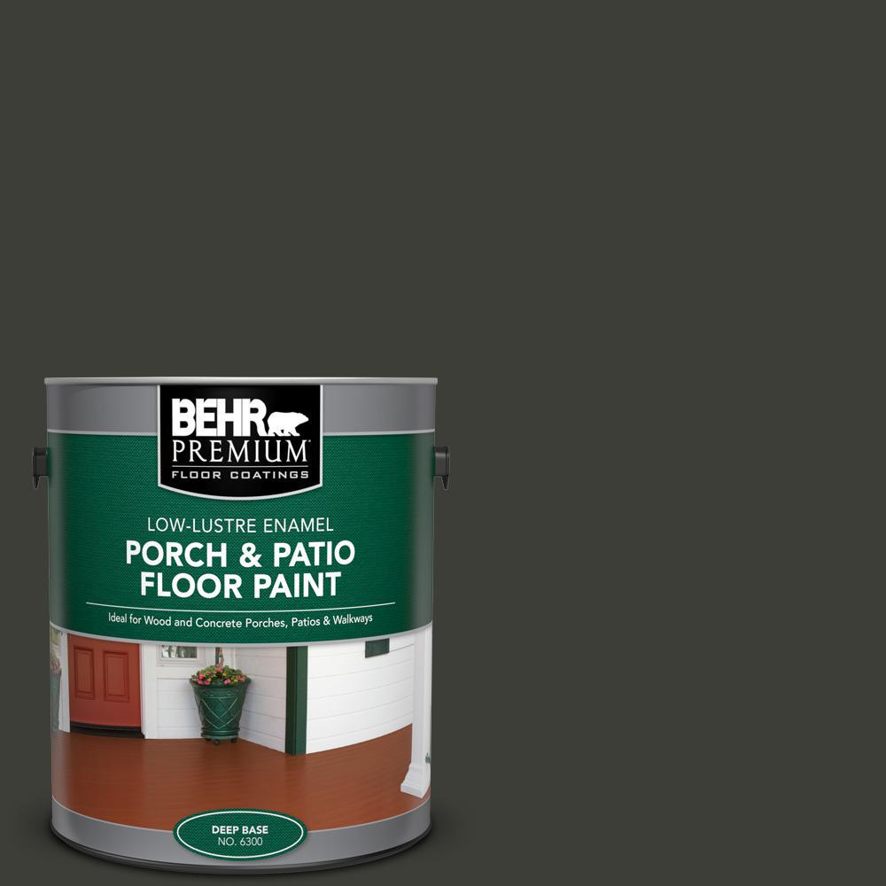 BEHR PREMIUM 1 gal. #PFC-75 Tar Black Low-Lustre Enamel Interior/Exterior Porch and Patio Floor Paint