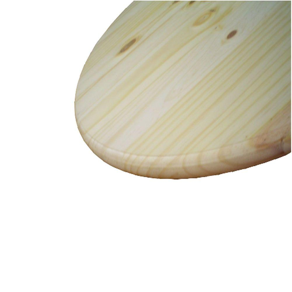 unbranded 1 in. x 1.5 ft. x 1.5 ft. Pine Edge Glued Panel Round Board