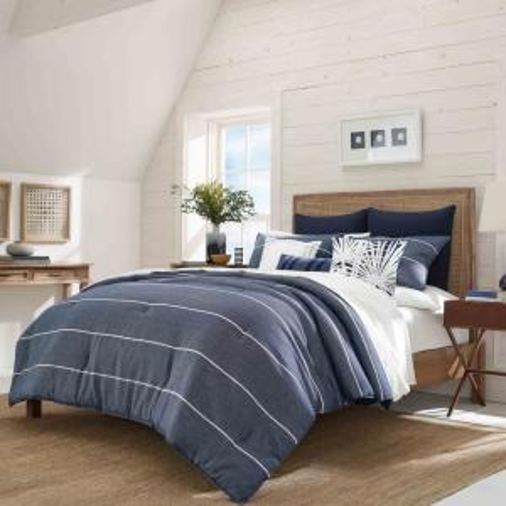Candler Navy 3-Piece Full/Queen Comforter Set