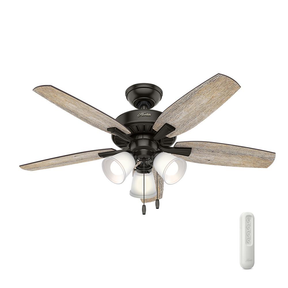 Hunter Oakfor 48 In Led Indoor Noble Bronze Ceiling Fan